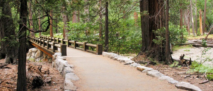 A new path and bridge near Lower Yosemite Fall. Photo: Yosemite Conservancy.