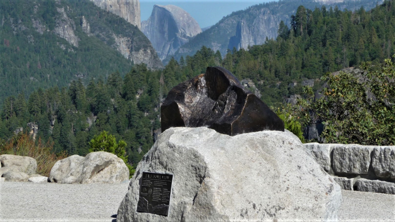 Half Dome View, an overlook on Big Oak Flat Road. Photo: Doug Nelson