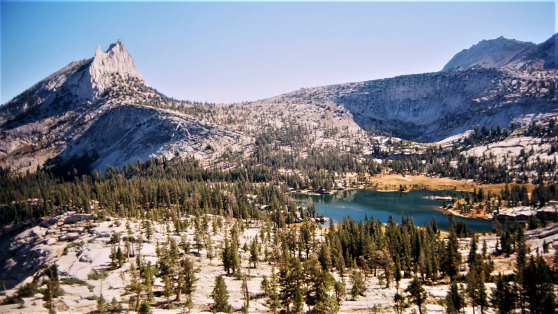 Cathedral Peak and Upper Cathedral Lake. Photo: Drew Schneier