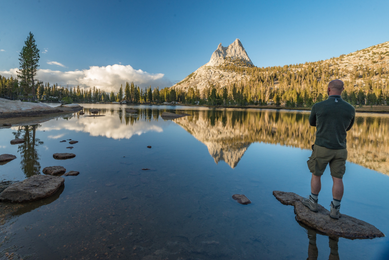 Upper Cathedral Lake and Cathedral Peak. Photo: Kevin Noble on Unsplash.