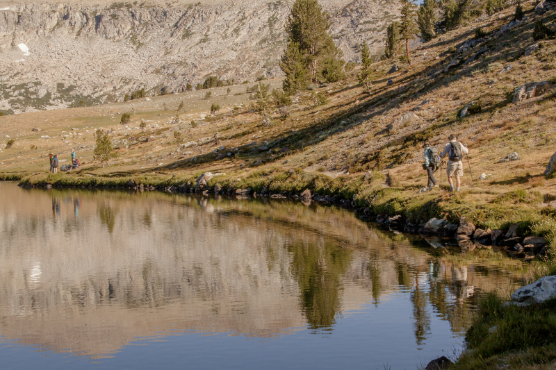 Hikers in the Gaylor Lakes Basin. Photo: Yosemite Conservancy/Keith Walklet.