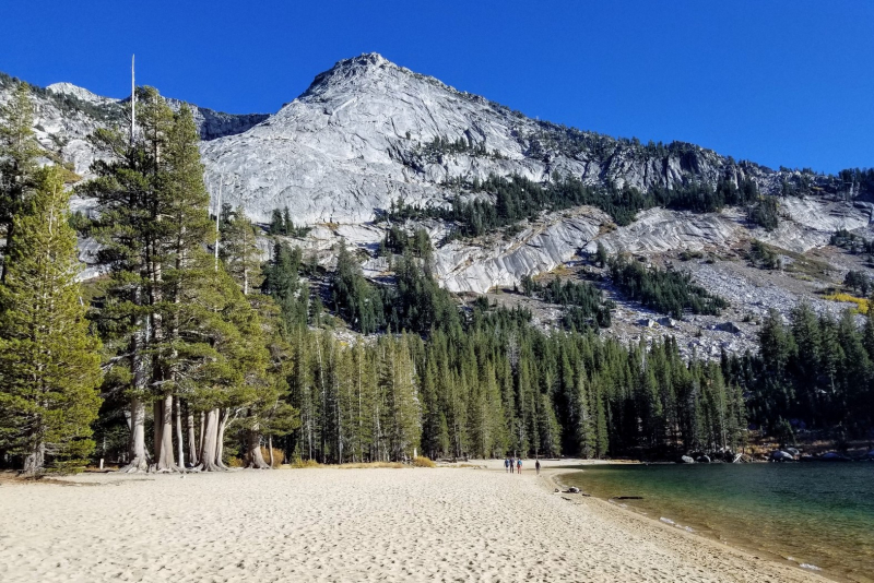 Tenaya Lake's East Beach. Photo: Gretchen Roecker.