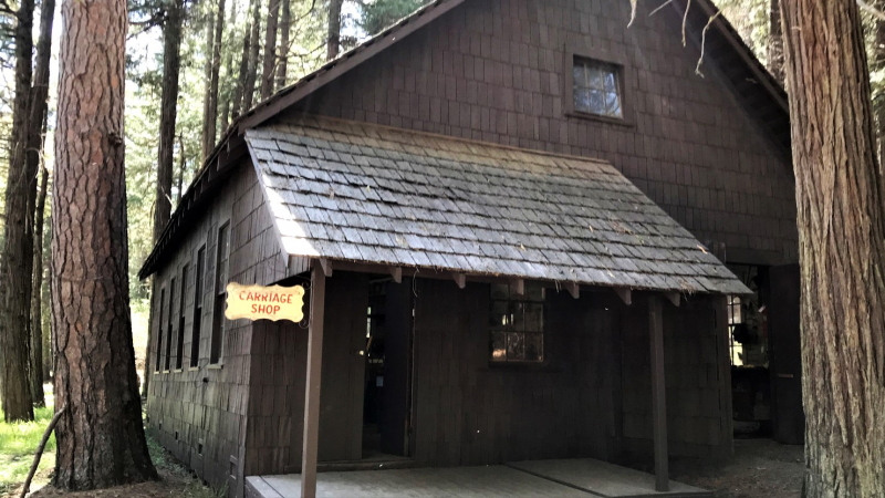 One 2019 grant-funded project focuses on expanding education at the Pioneer Yosemite History Center, including by rehabilitating and opening the historic Chinese Laundry House/Carriage Shop building. Photo: NPS