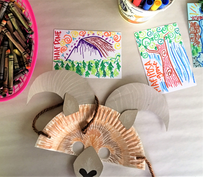 Through Lora's art classes, young visitors get to learn about things that make Yosemite such a special place, such as granite domes, giant sequoias and endangered wildlife.