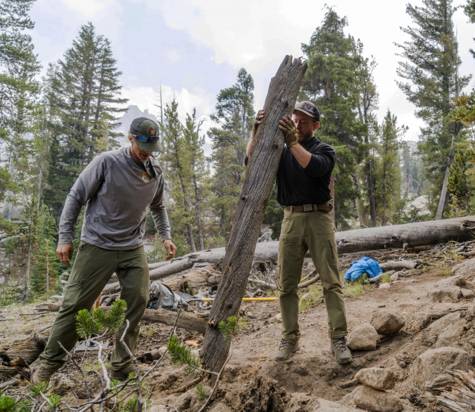 When they're not scaling cliffs, Yosemite Climber Stewards are involved in an array of on-the-ground activities, including trail restoration projects. Photo: The RV Project (rvproj.com)